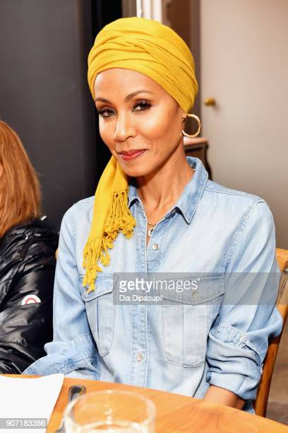 Actress Jada Pinkett Smith attends the Feature Film Jury Orientation Breakfast during the 2018 Sundance Film Festival at Cafe Terigo on January 19...