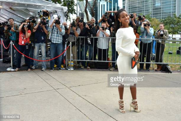 Actress Jada Pinkett Smith attends the Free Angela All Political Prisoners premiere during the 2012 Toronto International Film Festival at Roy...