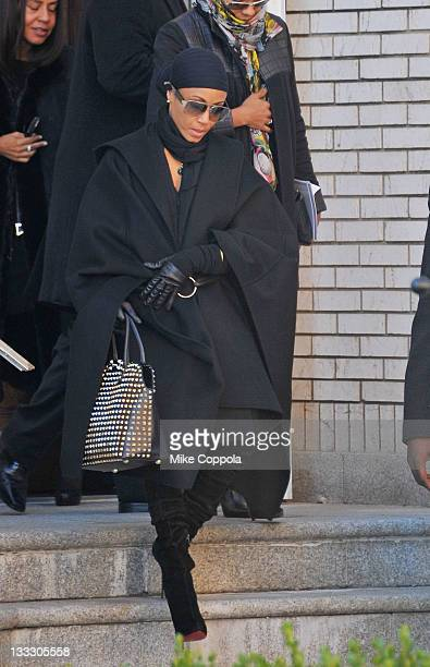 Actress Jada Pinkett Smith attends the funeral service for Heavy D at Grace Baptist Church on November 18 2011 in Mount Vernon New York