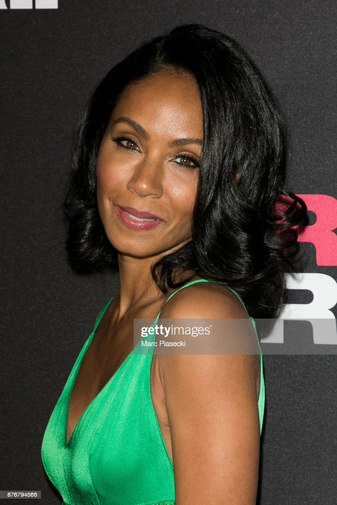 Actress Jada Pinkett Smith attends the 'Girls Trip' Premiere at UGC Cine Cite Bercy on November 20, 2017 in Paris, France.