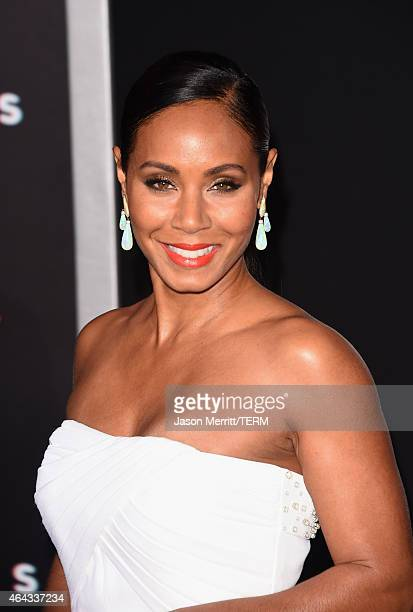 Actress Jada Pinkett Smith attends the Warner Bros Pictures' 'Focus' premiere at TCL Chinese Theatre on February 24 2015 in Hollywood California