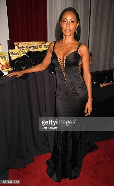 Actress Jada Pinkett Smith backstage at the People's Choice Awards 2017 at Microsoft Theater on January 18 2017 in Los Angeles California