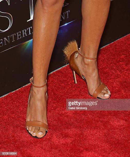 Actress Jada Pinkett Smith shoes detail attends STX Entertainment's The State of the Industry Past Present and Future at The Colosseum at Caesars...