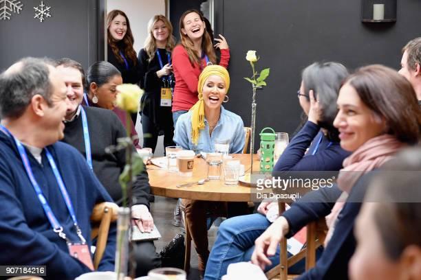 Actress Jada Pinkett Smith speaks at the Feature Film Jury Orientation Breakfast during the 2018 Sundance Film Festival at Cafe Terigo on January 19...