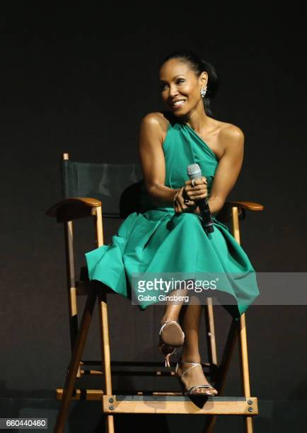 Actress Jada Pinkett Smith speaks at the Universal Pictures' presentation during CinemaCon at The Colosseum at Caesars Palace at on March 29, 2017 in...