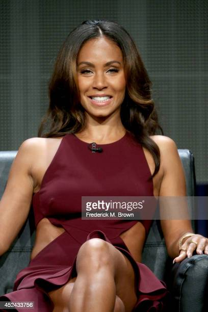 Actress Jada Pinkett Smith speaks onstage at the 'Gotham' panel during the FOX Network portion of the 2014 Summer Television Critics Association at...
