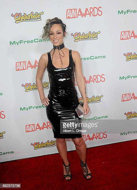 Actress Jada Stevens arrives at the 2017 Adult Video News Awards held at the Hard Rock Hotel Casino on January 21 2017 in Las Vegas Nevada