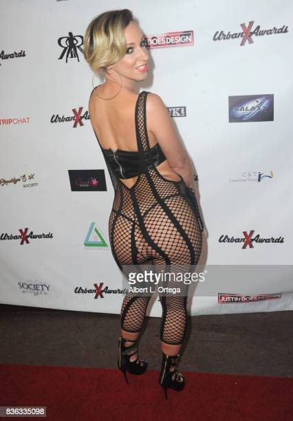 Actress Jada Stevens arrives for the 6th Urban X Awards held at Stars On Brand on August 20 2017 in Glendale California