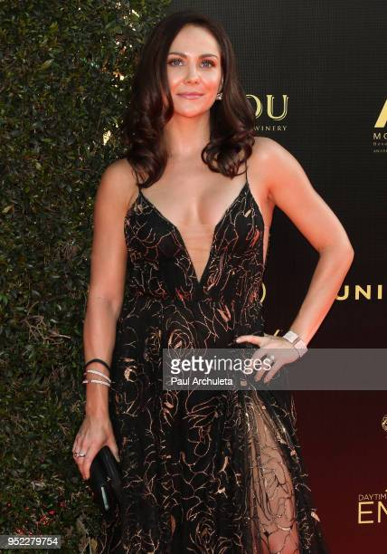 Actress Jade Harlow attends the 45th Annual Daytime Creative Arts Emmy Awards at the Pasadena Civic Auditorium on April 27 2018 in Pasadena California
