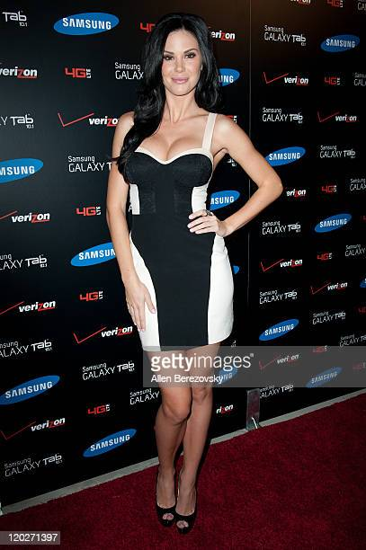 Actress Jade Nicole arrives at the Samsung Galaxy Tab 101 launch party at The Beverly on August 2 2011 in Los Angeles California