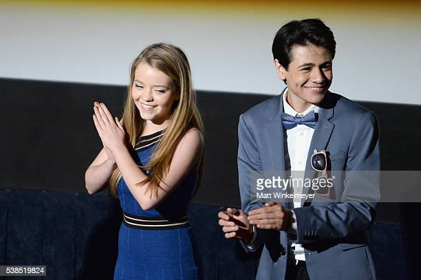 Actress Jade Pettyjohn and actor Diego Josef attend the premiere of 'Girl Flu' during the 2016 Los Angeles Film Festival at Arclight Cinemas Culver...