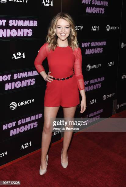 Actress Jade Pettyjohn arrives at the Los Angeles special screening of Hot Summer Nights at the Pacific Theatres at The Grove on July 11 2018 in Los...