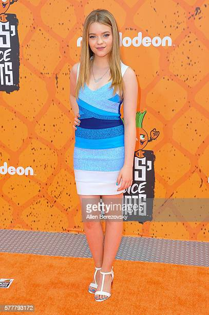 Actress Jade Pettyjohn arrives at the Nickelodeon Kids' Choice Sports Awards 2016 at UCLA's Pauley Pavilion on July 14, 2016 in Westwood, California.