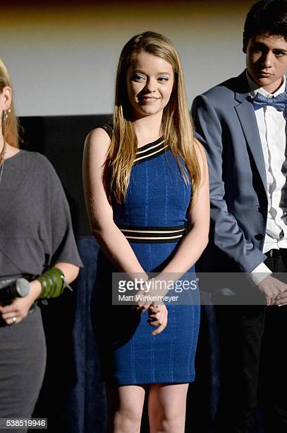 Actress Jade Pettyjohn attends the premiere of 'Girl Flu' during the 2016 Los Angeles Film Festival at Arclight Cinemas Culver City on June 6 2016 in...