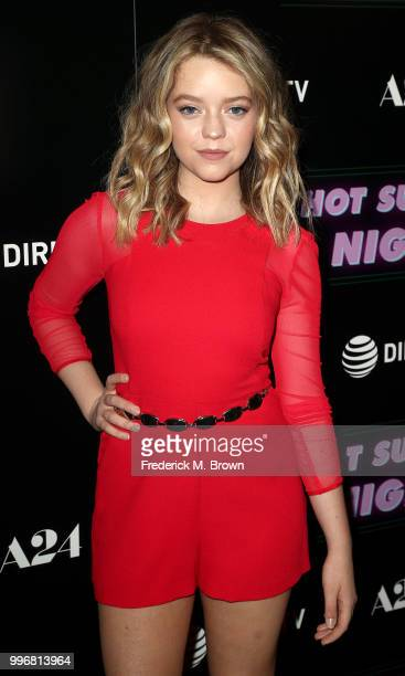 Actress Jade Pettyjohn attends the Screening of A24's Hot Summer Nights at the Pacific Theatres at The Grove on July 11 2018 in Los Angeles California