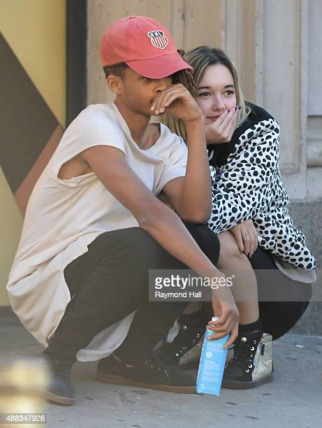 Actress Jaden Smith and Sarah Snyder seen at photo shoot in Soho at a on September 15 2015 in New York City