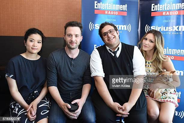 Actress Jadyn Wong actors Eddie Kaye Thomas and Ari Stidham and actress Katharine McPhee attend SiriusXM's Entertainment Weekly Radio Channel...