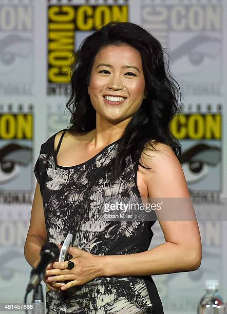 Actress Jadyn Wong attends CBS TV Studios' panel for Scorpion during ComicCon International 2015 at the San Diego Convention Center on July 9 2015 in...