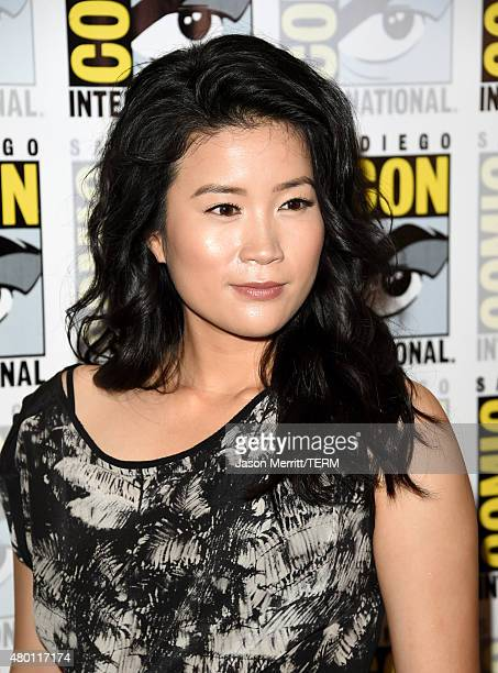 Actress Jadyn Wong attends the CBS Television Studios press room during ComicCon International 2015 at the Hilton Bayfront on July 9 2015 in San...