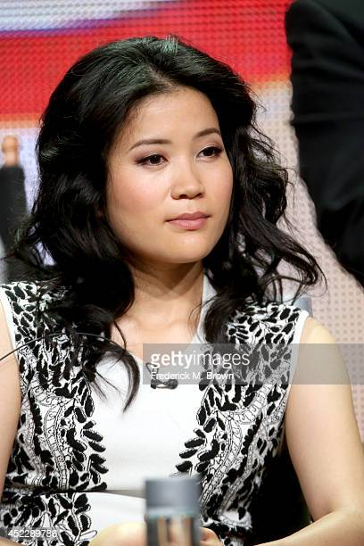 Actress Jadyn Wong speaks onstage at the Scorpion panel during the CBS Network portion of the 2014 Summer Television Critics Association at The...