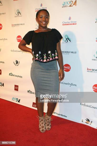 Actress Jae'Lyn Ayauna Godoy attends the Santee High School Fashion Show at Los Angeles Trade Technical College on April 7 2017 in Los Angeles...