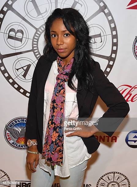 Actress Jahnee Wallace attends the BronzeLens Film Festival Closing Night at Arkwright Auditorium on October 26 2014 in Atlanta Georgia