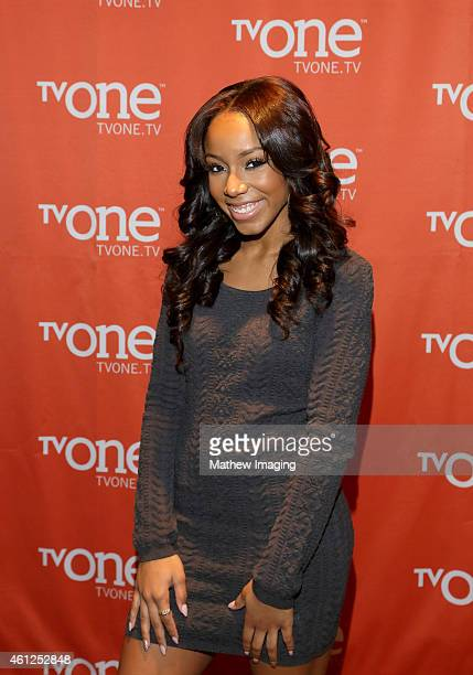 Actress Jahnee Wallace attends the TV One Winter 2015 TCA Panel at the Langham Hotel on January 9 2015 in Pasadena California