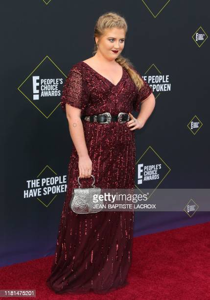 US Actress Jaicy Elliot arrives for the 45th annual E People's Choice Awards at Barker Hangar in Santa Monica California on November 10 2019