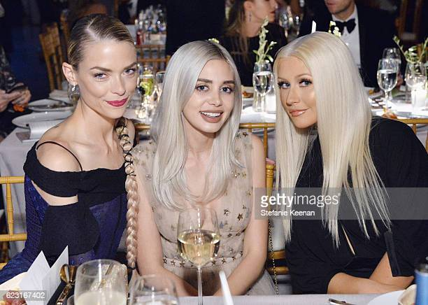 Actress Jaime King Alexandra Lenas and recording artist Christina Aguilera attend the Fifth Annual Baby2Baby Gala Presented By John Paul Mitchell...