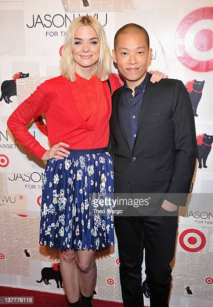 Actress Jaime King and designer Jason Wu attend Jason Wu For Target Private Launch Event at Skylight SOHO on January 26, 2012 in New York City.