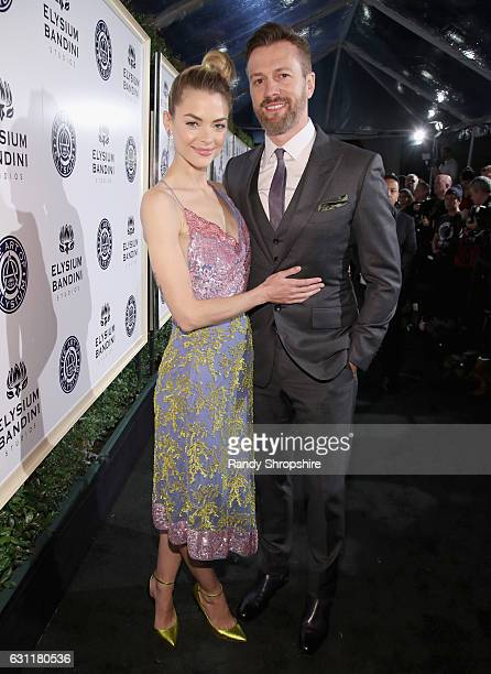 Actress Jaime King and director Kyle Newman attend The Art of Elysium presents Stevie Wonder's HEAVEN - Celebrating the 10th Anniversary at Red...