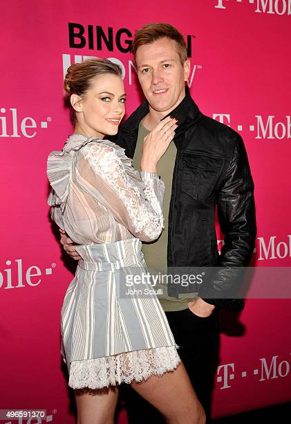 Actress Jaime King and director Kyle Newman attend T-Mobile Un-carrier X Launch Celebration at The Shrine Auditorium on November 10, 2015 in Los...