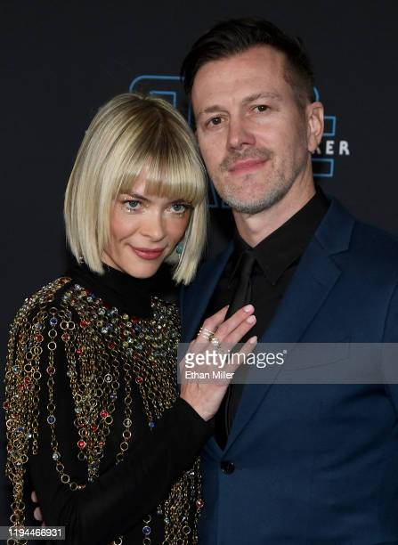 "Actress Jaime King and director/producer Kyle Newman attend the premiere of Disney's ""Star Wars: The Rise of Skywalker"" on December 16, 2019 in..."