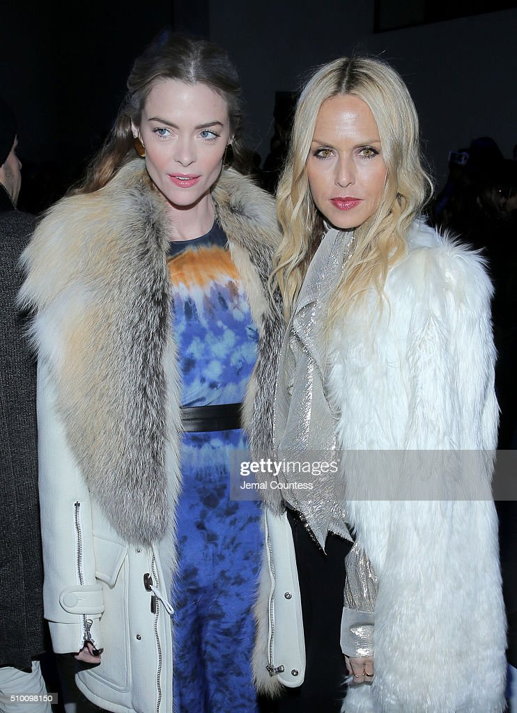 Actress Jaime King (L) and fashion designer Rachel Zoe attend the Altuzarra Fall 2016 fashion show during New York Fashion Week at Spring Studios on February 13, 2016 in New York City.