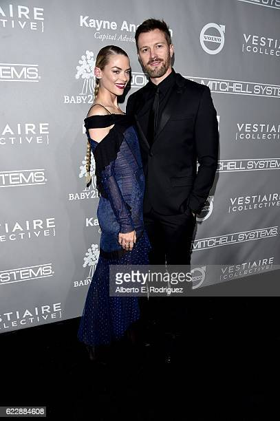 Actress Jaime King and filmmaker Kyle Newman attend the 5th Annual Baby2Baby Gala at 3LABS on November 12 2016 in Culver City California