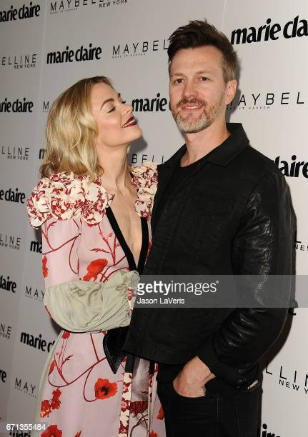 Actress Jaime King and husband Kyle Newman attend Marie Claire's Fresh Faces event at Doheny Room on April 21 2017 in West Hollywood California