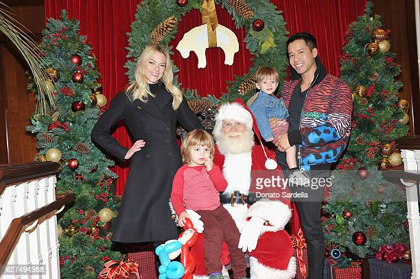Actress Jaime King and Jared Eng attend Brooks Brothers holiday celebration with St Jude Children's Research Hospital on December 3 2016 in Beverly...