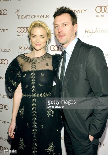 Actress Jaime King and Kyle Newman arrive at Audi presents The Art of Elysium's 5th annual HEAVEN at Union Station on January 14, 2012 in Los...