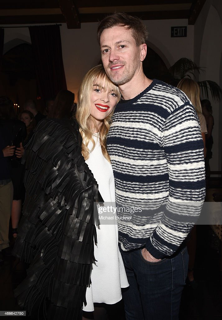 Actress Jaime King (L) and Kyle Newman attend the Variety and Formula E Hollywood Gala at Chateau Marmont on April 4, 2015 in Los Angeles, California.