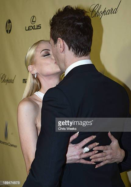 Actress Jaime King and Kyle Newman attend The Weinstein Company's 2013 Golden Globe Awards after party presented by Chopard HP Laura Mercier Lexus...
