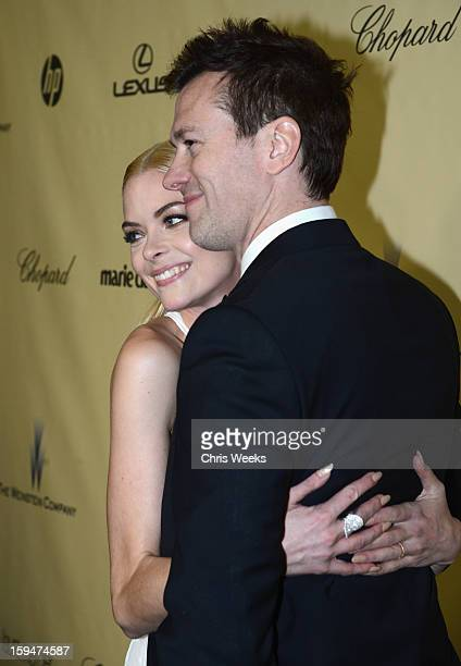 Actress Jaime King and producer Kyle Newman attend The Weinstein Company's 2013 Golden Globe Awards after party presented by Chopard HP Laura Mercier...
