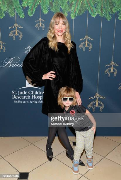 Actress Jaime King and son James Knight attend Brooks Brothers' celebration of the holidays with St Jude Children's Research Hospital at Brooks...