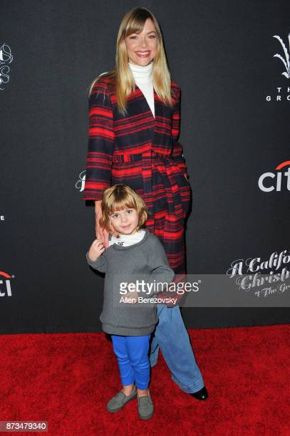 Actress Jaime King and son James Knight Newman attend A California Christmas at The Grove Presented by Citi on November 12 2017 in Los Angeles...
