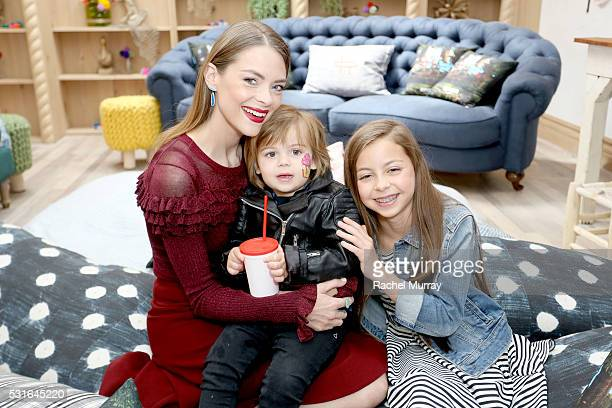 Actress Jaime King and son James Knight Newman attend Amazon Original Series 'Tumble Leaf' season two celebration on May 15 2016 in Los Angeles...