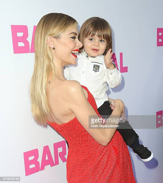 Actress Jaime King and son James Knight Newman attend the premiere of DirecTV's 'Barely Lethal' at ArcLight Hollywood on May 27 2015 in Hollywood...