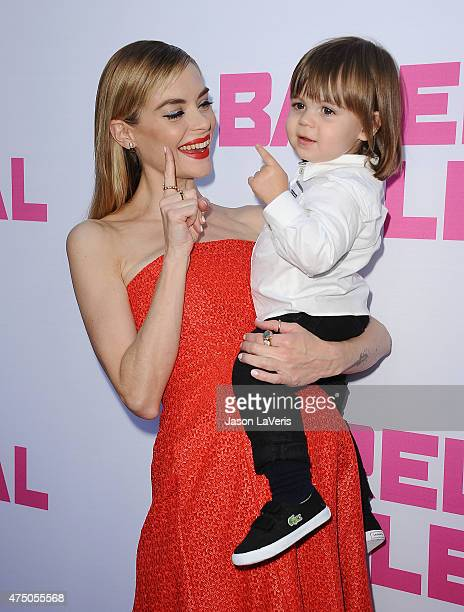 Actress Jaime King and son James Knight Newman attend the premiere of Barely Lethal at ArcLight Hollywood on May 27 2015 in Hollywood California