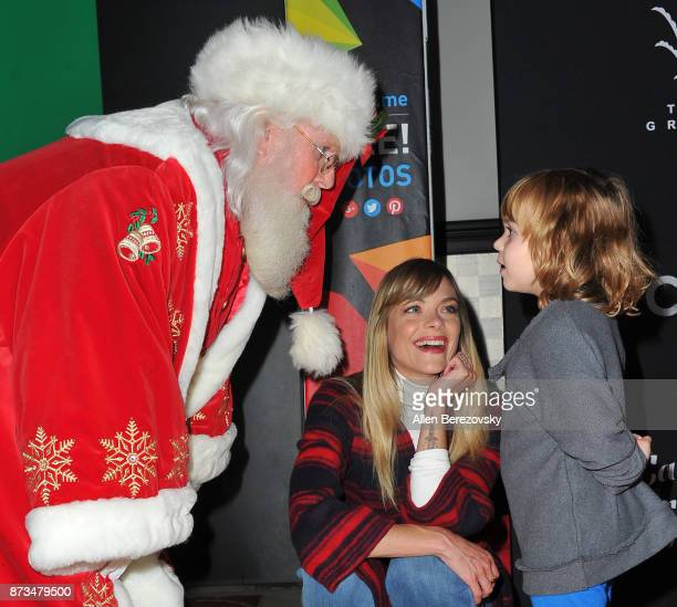 Actress Jaime King and son James Knight Newman pose for pictures with Santa Clause at A California Christmas at The Grove Presented by Citi on...