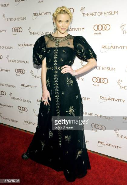 Actress Jaime King arrives at Audi presents The Art of Elysium's 5th annual HEAVEN at Union Station on January 14, 2012 in Los Angeles, California.