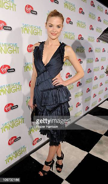 Actress Jaime King arrives at Relativity Media presents the premiere of Take Me Home Tonight held at Regal Cinemas LA Live Stadium 14 on March 2 2011...