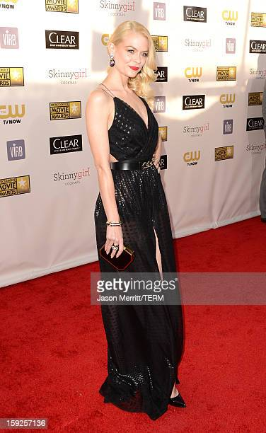 Actress Jaime King arrives at the 18th Annual Critics' Choice Movie Awards held at Barker Hangar on January 10 2013 in Santa Monica California